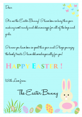 Free Easter Bunny Letter Easter Bunny Letter Easter Bunny Free Lettering