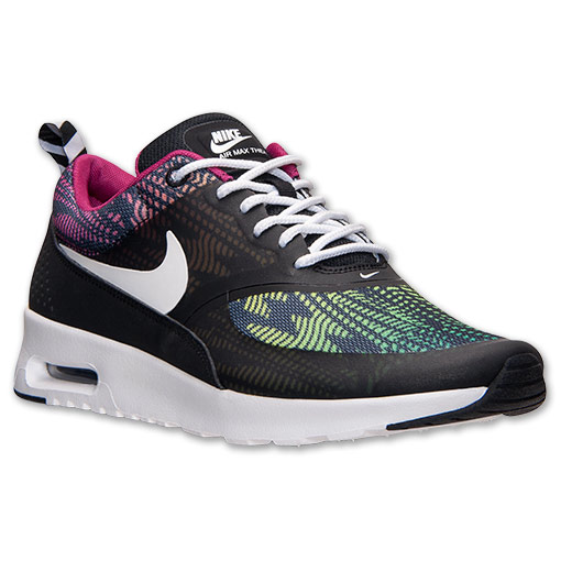 NIKE AIR MAX THEA PRINT Black/Bright Magenta/Red Violet/White