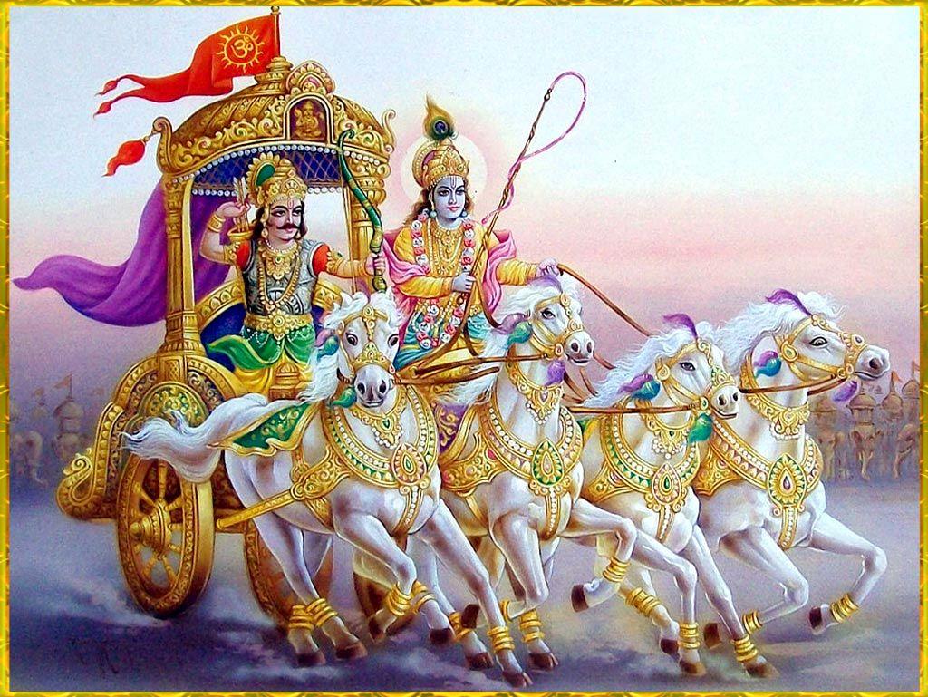 Shri Krishna Arjuna Hindouisme