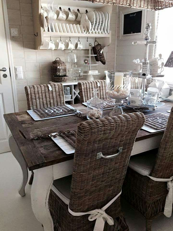 r stico chic riviera maison beautiful dining rooms. Black Bedroom Furniture Sets. Home Design Ideas