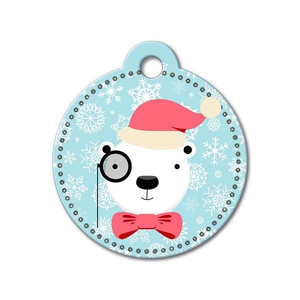 Polar Bear Holiday Dog Tag #holidays #dogtagsfordogs #pettags #dogaccessories #dogfashion #dogs #pets #etsy #etsyfinds #christmas #polarbear