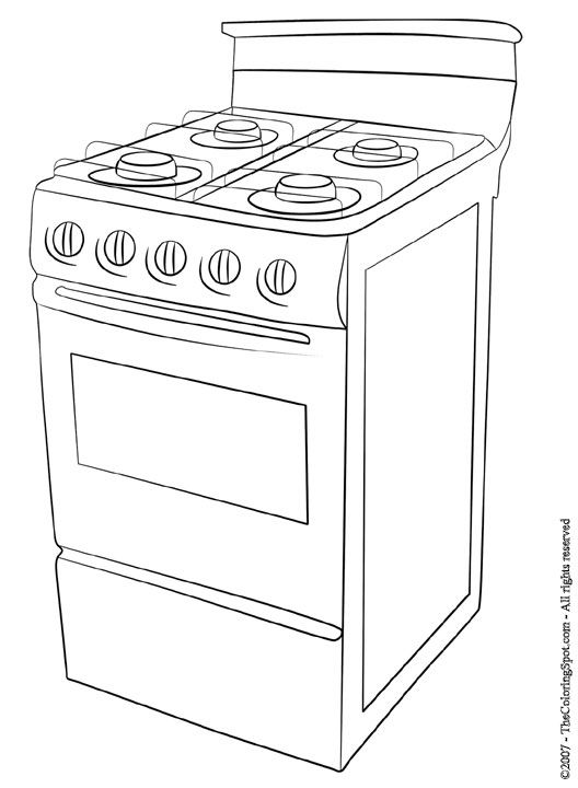 Stove Coloring Sheet Coloring Sheets Free Coloring Pages Color
