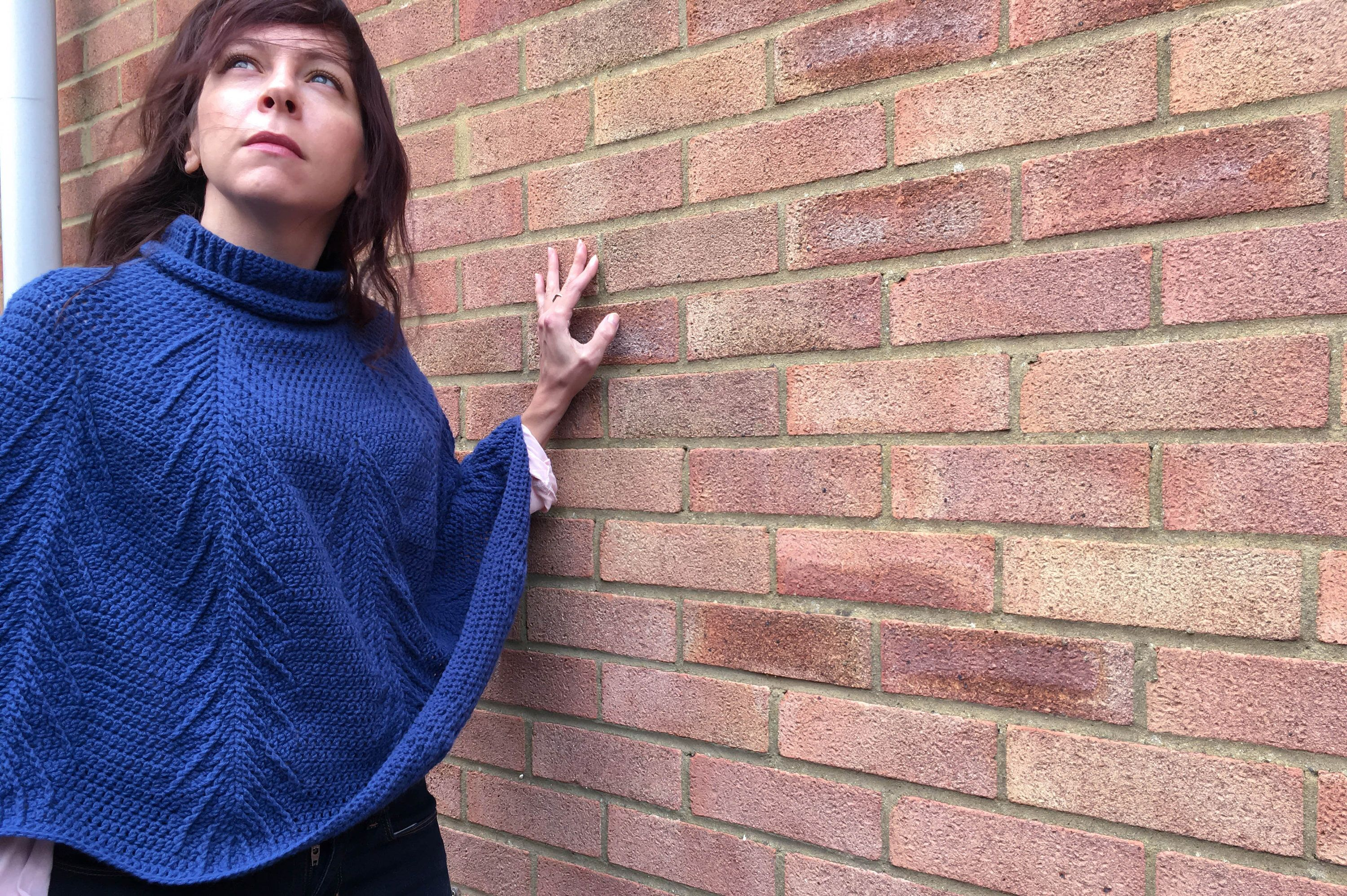 Falling Pines Cable Crochet Poncho Pattern. Pretty, cosy, slouchy ...
