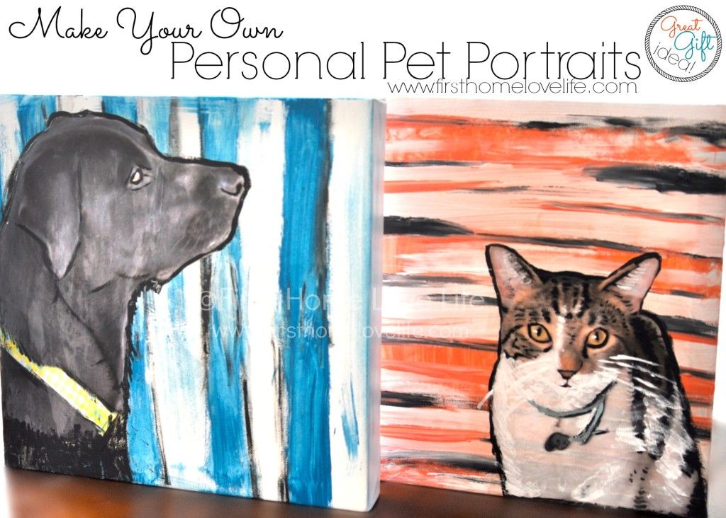 Paint Your Own #Pet Portrait Using #ModPodge! You won't believe how easy it is!!!!