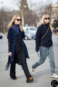 STYLE DU MONDE / Paris Fashion Week FW 2015 Street Style: Thora Valdimarsdottir and Jeanette Friis Madsen  // #Fashion, #FashionBlog, #FashionBlogger, #Ootd, #OutfitOfTheDay, #StreetStyle, #Style
