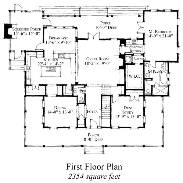 Historic Style House Plan with 5 Bed 5 Bath