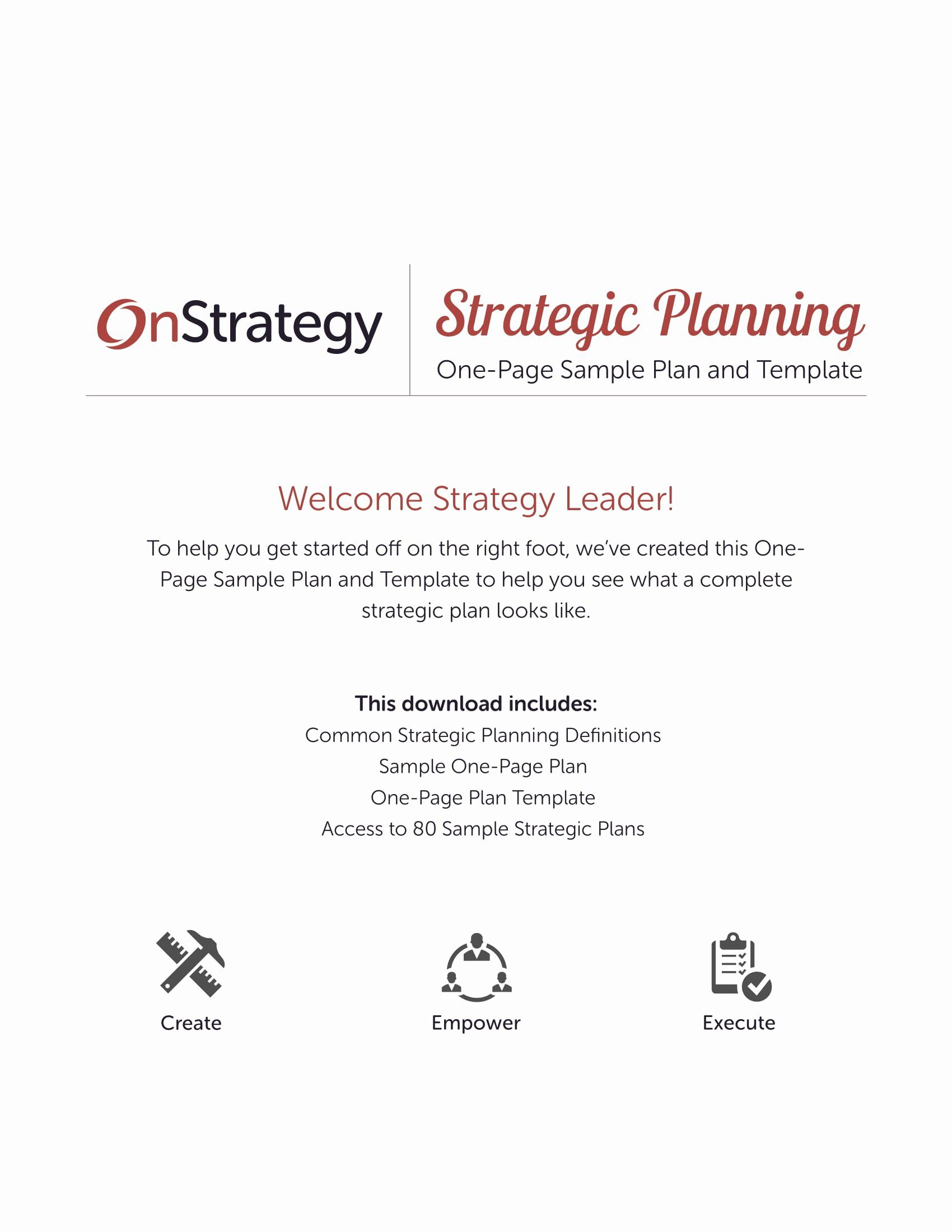 Simple Strategic Plan Template Unique 12 Simple Strategic