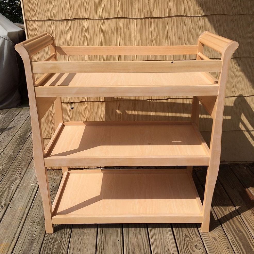 Do THIS to an old changing table to turn it into this awesome idea ...