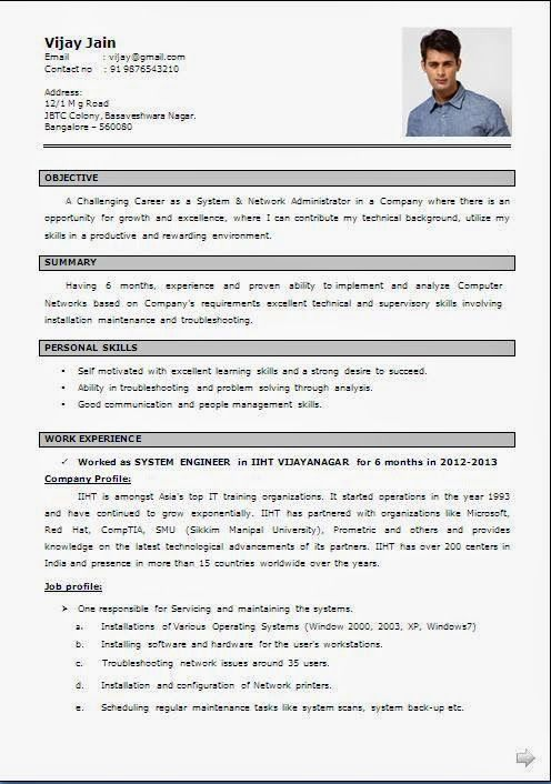 network engineer cv sample pdf