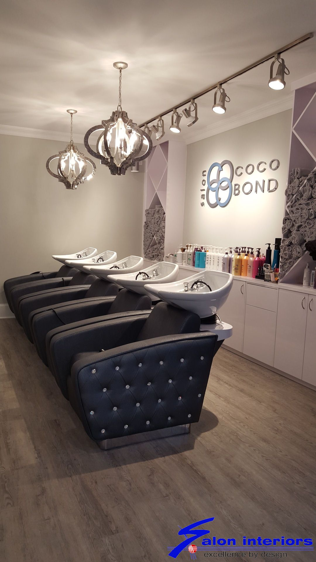 Salon Interiors Inc In South Hackensack Nj Designs Maximize Space For Both Client And Staff To Flow Together Salon Interior Design Salon Interior Salon Decor