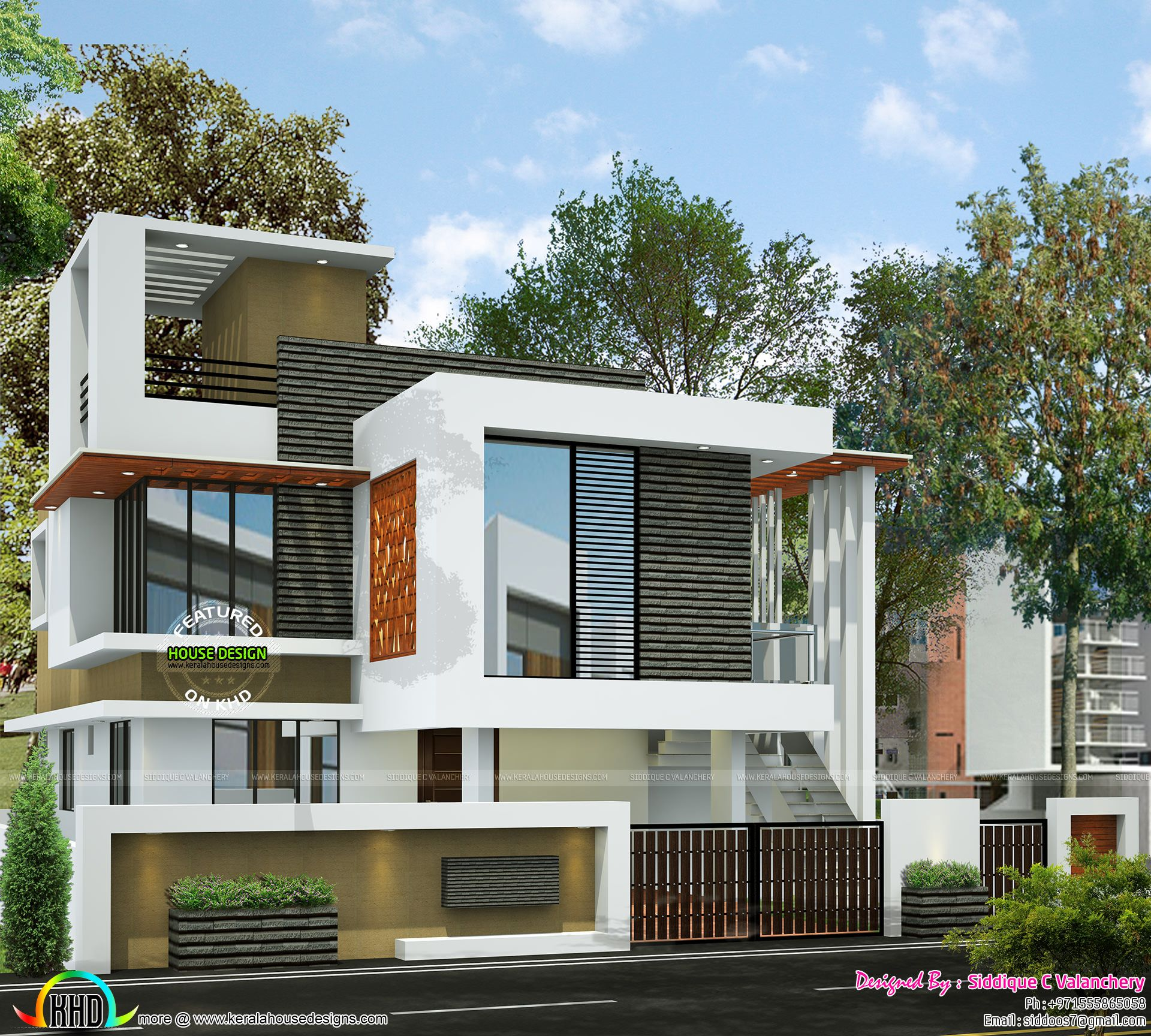 Proposed new house building elevation facade compound wall design also single floor turning to  double home rh pinterest