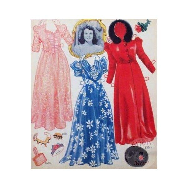 Deanna Durbin paper dolls | Vintage Deanna Durbin Uncut Reproduction Paper Dolls 1940