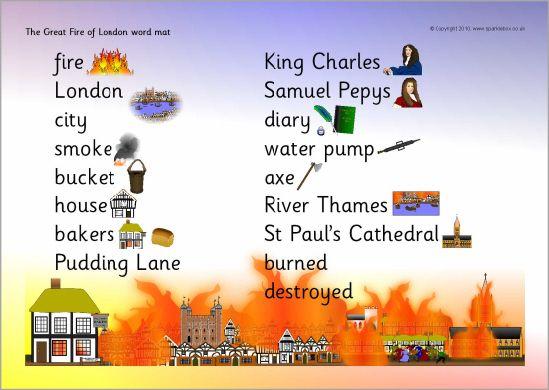 Great fire of london word mat sb3555 sparklebox for kids great fire of london word mat sb3555 sparklebox publicscrutiny Choice Image