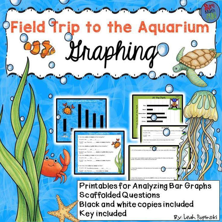 Ocean Unit Aquarium Field Trip Graphing Distance Learning 1st 2nd Field Trip Homeschool Field Trips Graphing Aquarium worksheets kindergarten
