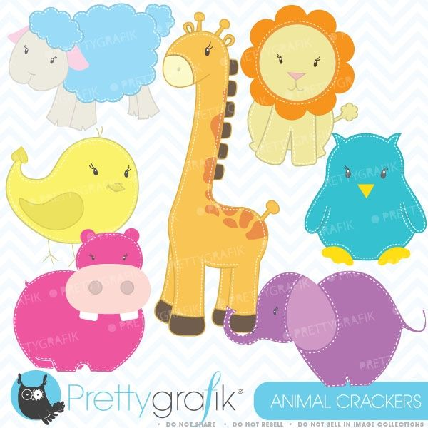 zoo animals clipart decorate your favorite project with these super cute animal cracker baby animals