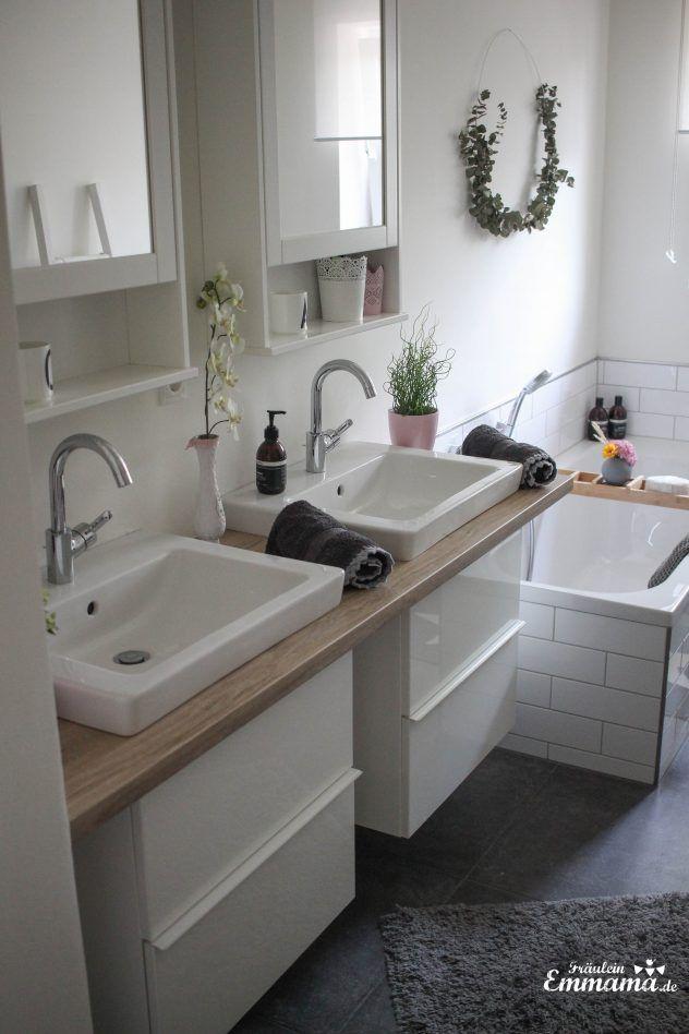 Makeover Badezimmer in grau und weiß- Ikea Badezimmerschrank | Villa ...