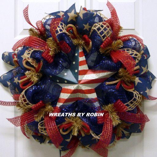 Photo of RWB Rustic Wreaths, Patriotic Wreaths (2867)