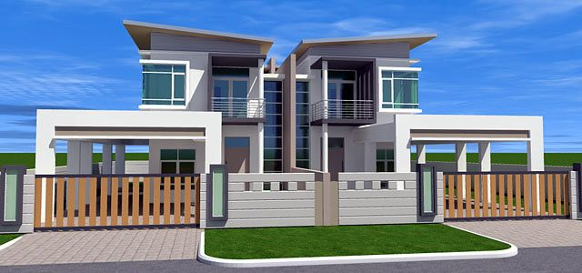 Semi detached house google search arquitectura moderna for House plans semi detached