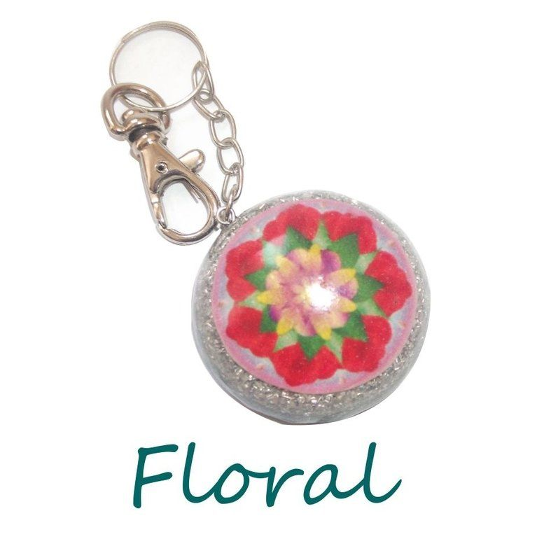 Chaveiro Floral - Carbono Extra - Luna Orgonites