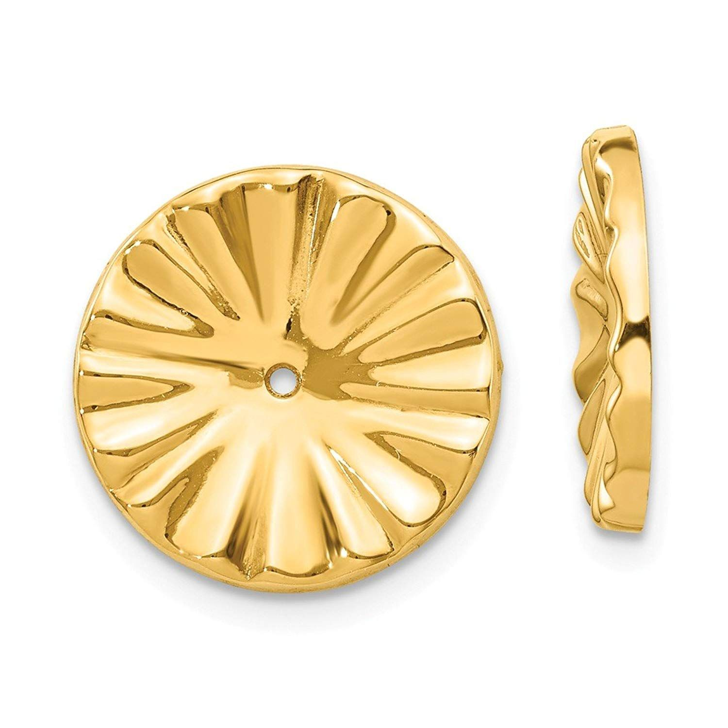 14k Yellow Gold Ear Jacket Jackets For Studs Fine Jewelry For Women Gifts For Her