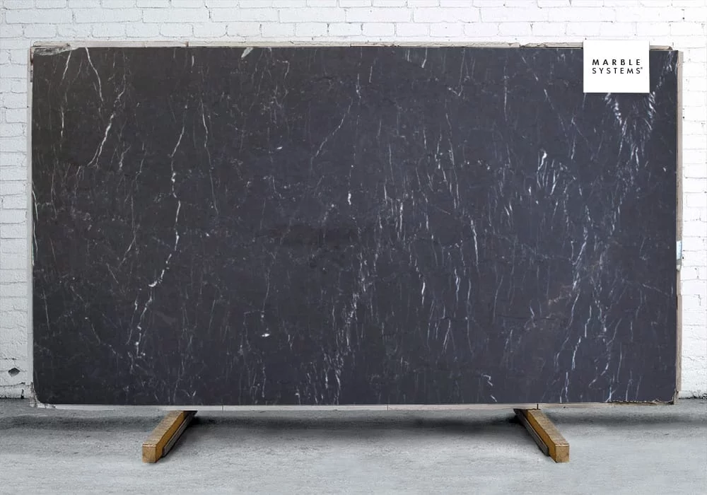 Pietra Black Honed Marble Slab Random 1 1 4 In 2020 Marble Slab Black Marble Countertops Honed Marble
