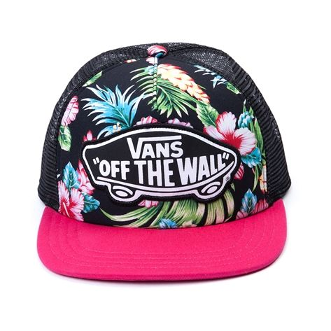 45264d66ad Shop for Vans G Beach Girl Trucker Hat in Black Pink at Journeys Shoes.