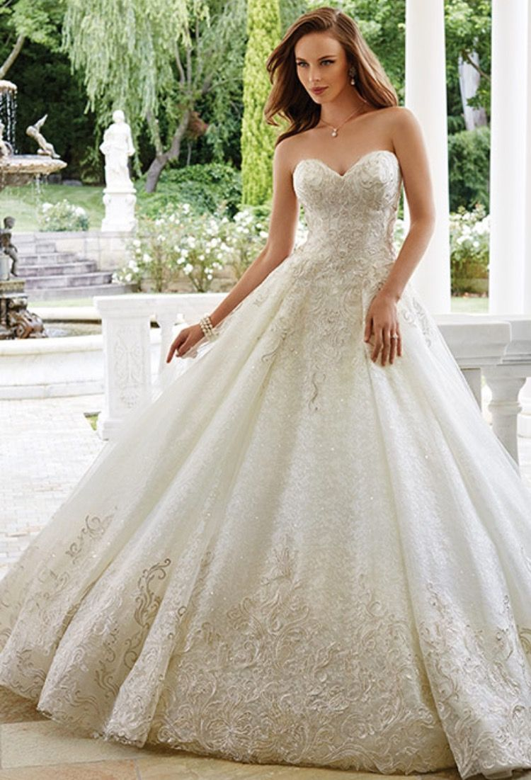 Metallic wedding dress  Pin by Arin on Wedding Gowns and long dresses  Pinterest