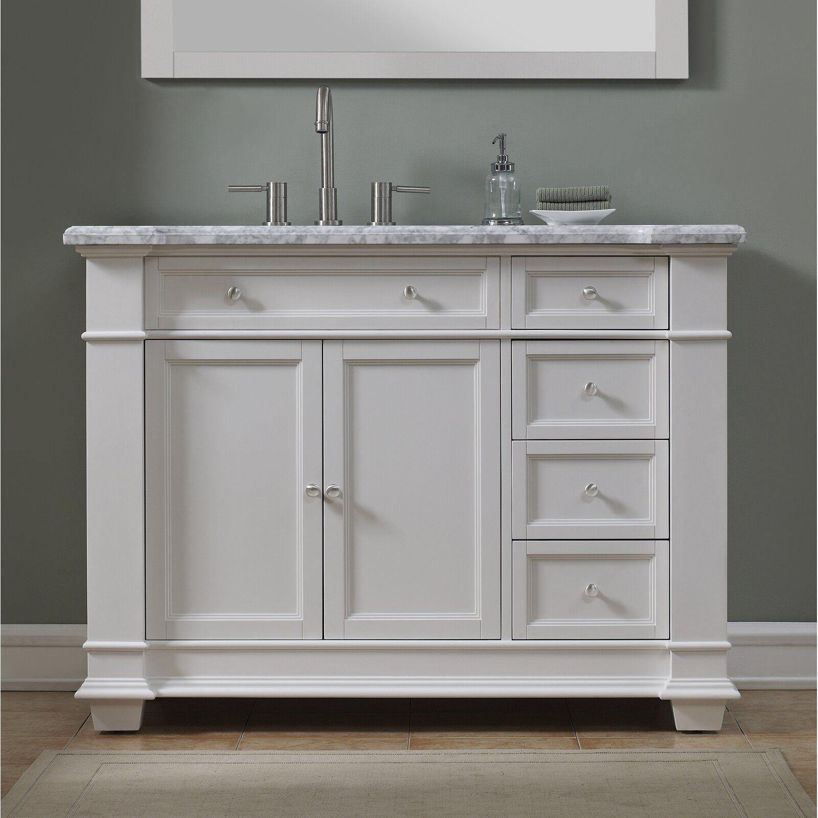 Riccardo 48 Single Bathroom Vanity Set Bathroom Vanity Double Vanity Bathroom Single Bathroom Vanity
