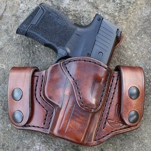 IN STOCK) GS2 OWB holster in Vintage brown for a Sig P365