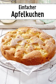 Einfacher Apfelkuchen Rezept  | LECKER #kageideer