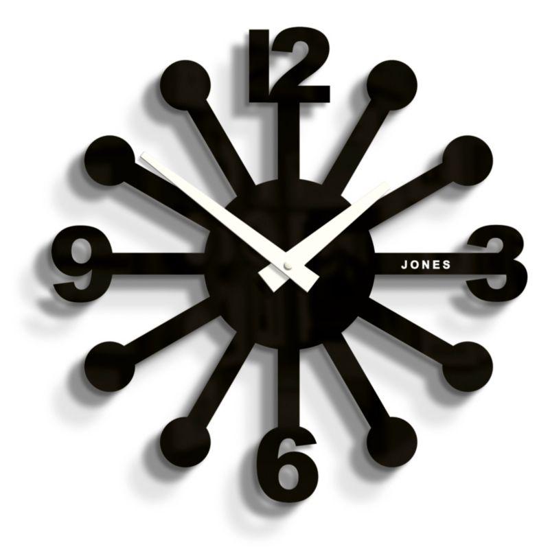 Black Kitchen Clock Argos: Jones Clocks Sunshine Clock In Black From ASDA