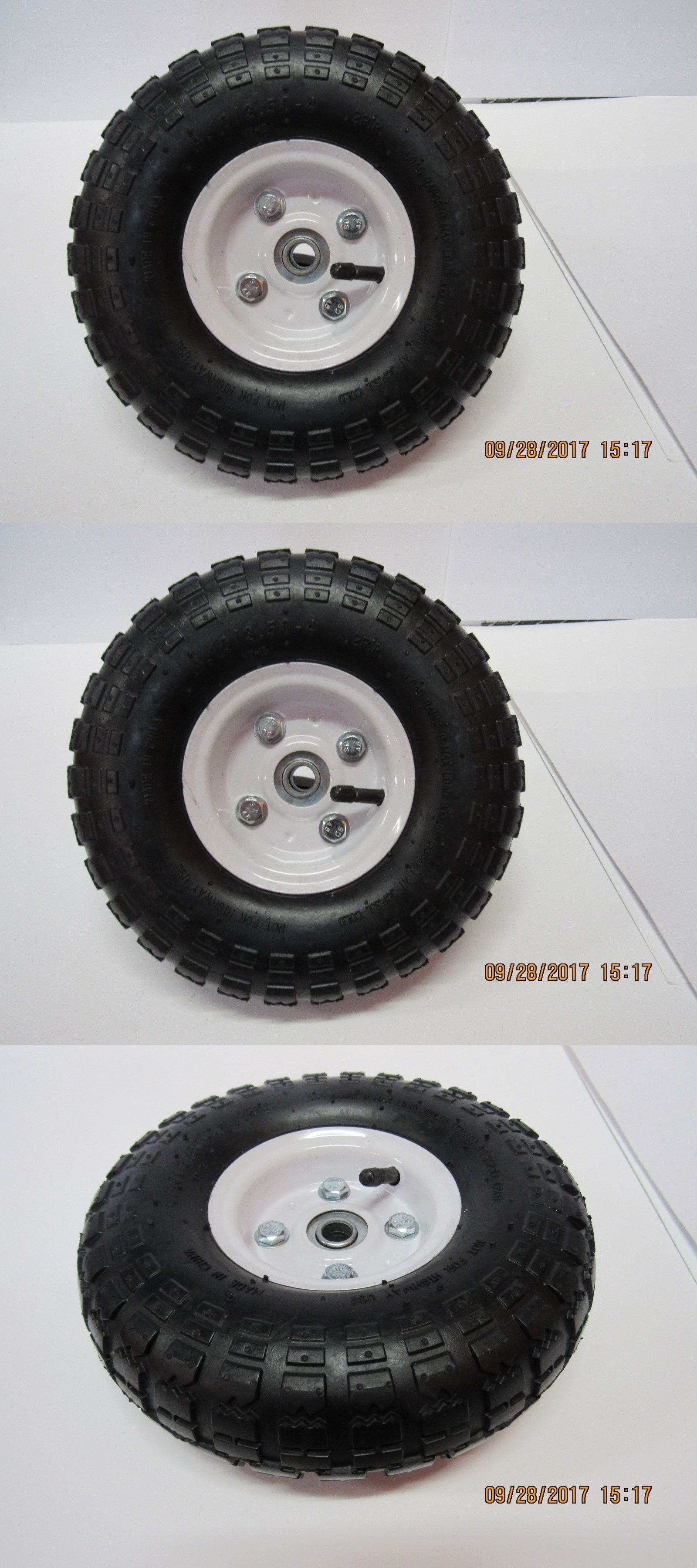 Wheelbarrows Carts And Wagons 75671 Utility Wheels Tires 4 10 3 50 4 With 5 8 Bearings 10 Pneumatic Tire Buy It Now Wheels Tires Wheel Utility Trailer