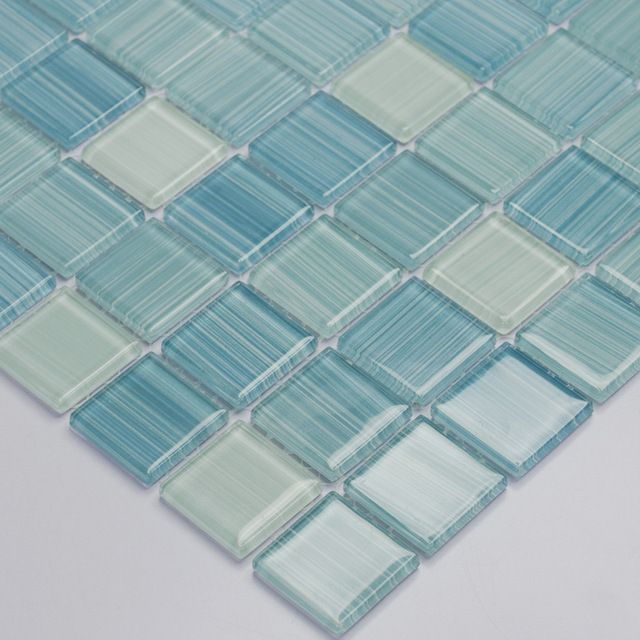 Awesome Blue Hand Painted Diy Crystal Glass Mosaic Tiles Children Download Free Architecture Designs Embacsunscenecom
