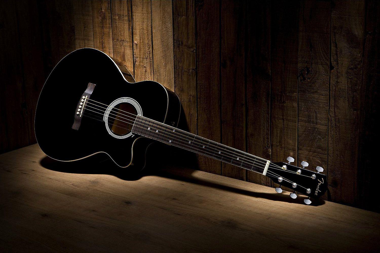 Black And White Fender Fa 130 Acoustic Guitar Cutaway Old Wood Background Hd Guitar Music Desktop Wal Ovation Guitar Black Acoustic Guitar Guitar For Beginners