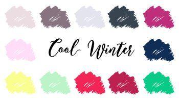 Deep Winter (Dark Winter) Palette | Infinite Closet