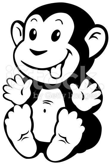 49++ Baby monkey clipart black and white ideas in 2021