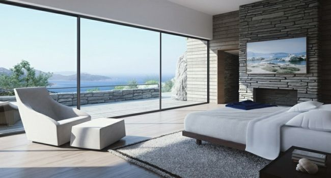 Schlafzimmer Sessel ~ Traumhaftes schlafzimmer natursteinfassade sessel water living