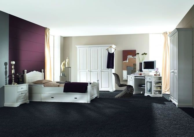 Bedroom Design For The Bride Black Carpetmodern