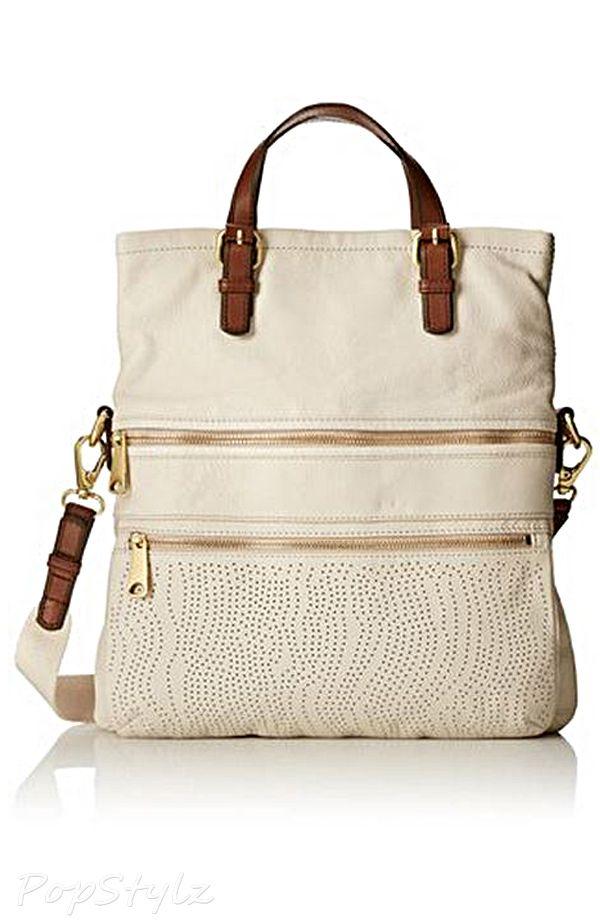 b405ef019857 Fossil Explorer Perf Tote Leather Handbag Cartera Mujer