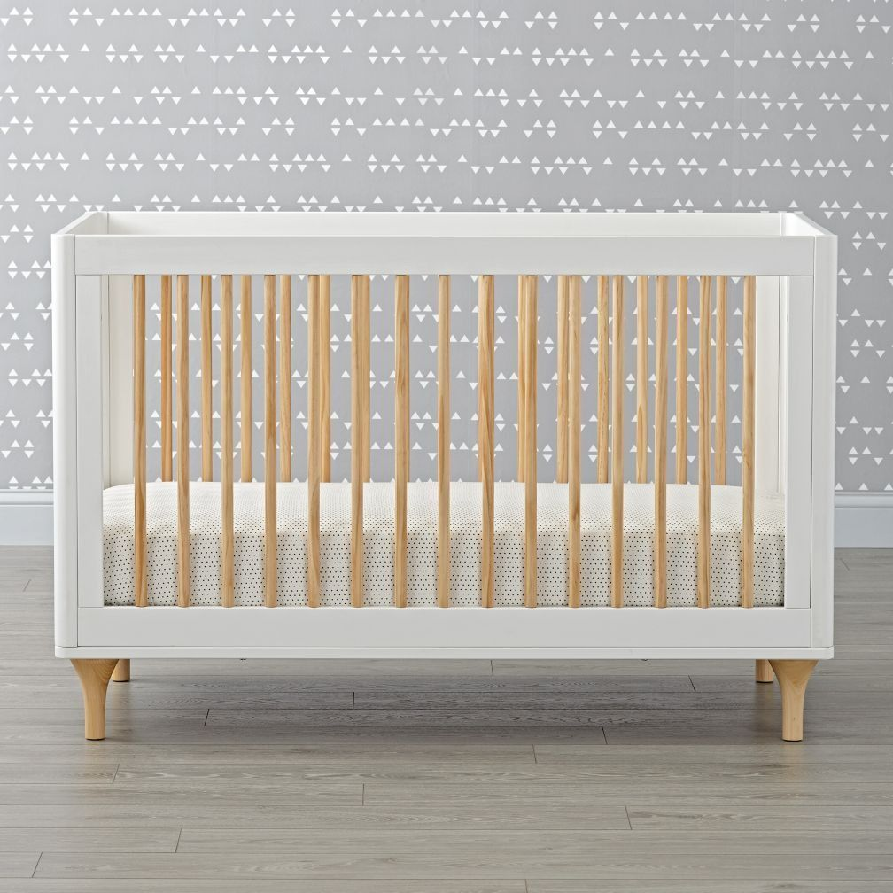 Babyletto Lolly White Natural Convertible Crib Naturalwood