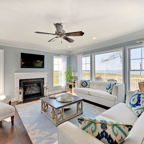 mesmerizing sherwin williams blue living room | Catalina - Living Room - beach style - living room ...