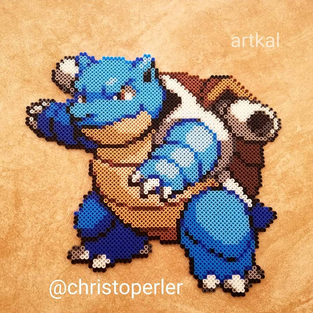 Blastoise Pokemon perler beads by christoperler | Pokemon ...