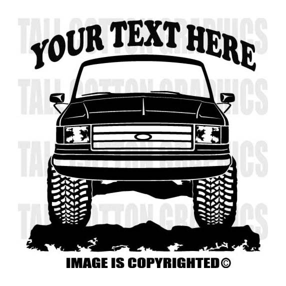 etc. custom art easy installation on walls windows Classic Ford Bronco 4x4 Truck vinyl decal wall graphic officially licensed product