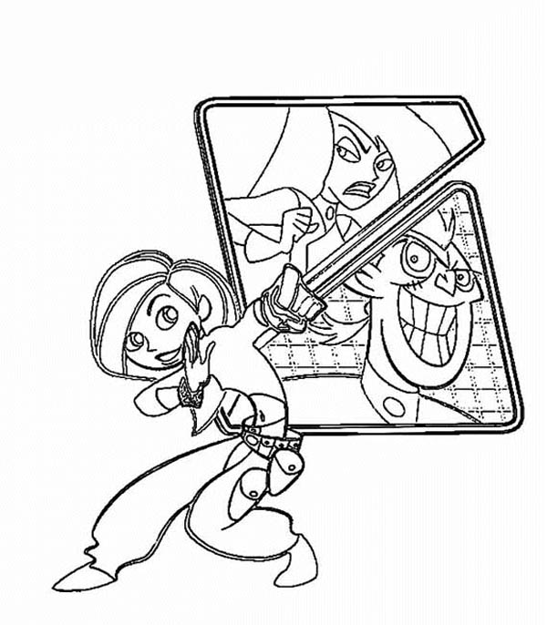 Kim Possible And Her Nemesis Coloring Pages Bulk Color In 2020 Coloring Pages Kim Possible Coloring Pages For Kids