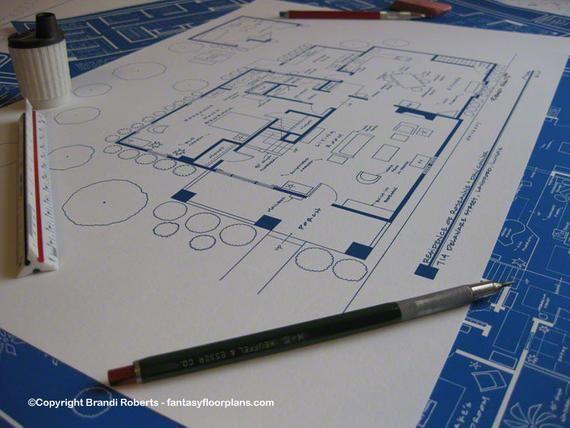 Charmed Floor Plan Halliwell Manor TV Show Blueprint 1329