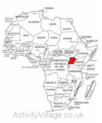 Uganda With Images Africa Map Kenya Africa