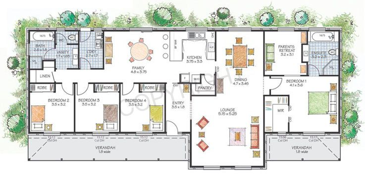 The Robertson Floor Plan Download A Pdf Here Paal Kit Homes Offer Easy To Build Steel Frame Kit Homes Fo Kit Homes Australian House Plans House Floor Plans