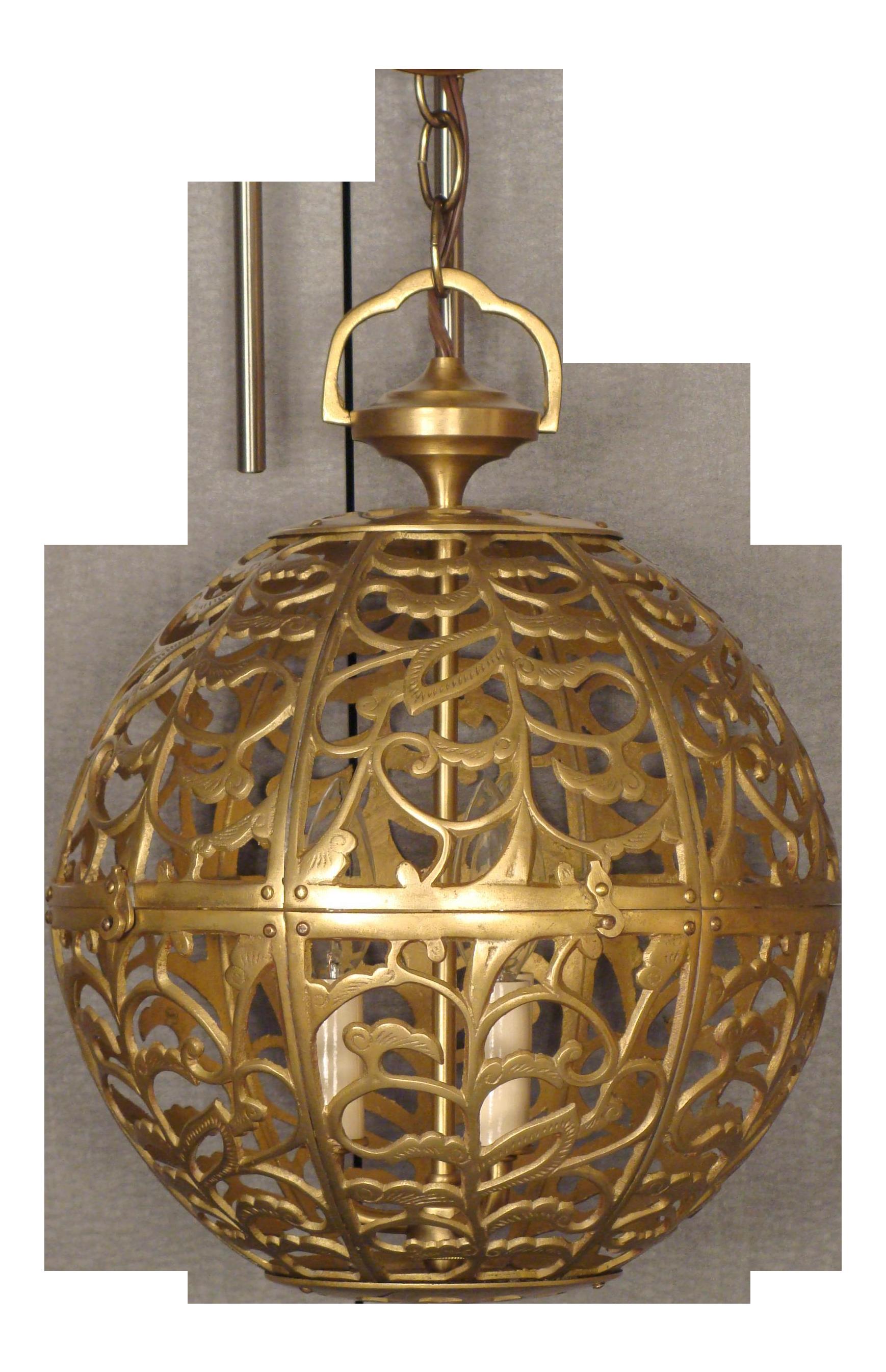 Vintage Brass Globe Light | Globe lights, Globe and Globe pendant light