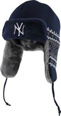 173aeaff9 New York Yankees Navy New Era Team Trapper Trooper Hat