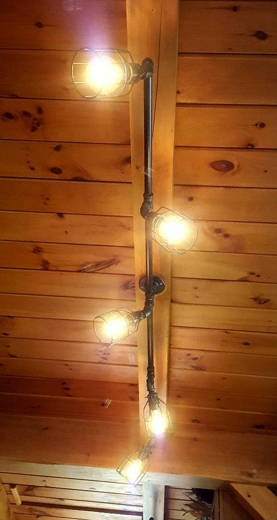 Rustic industrial track lighting commercial track for Rustic industrial kitchen lighting